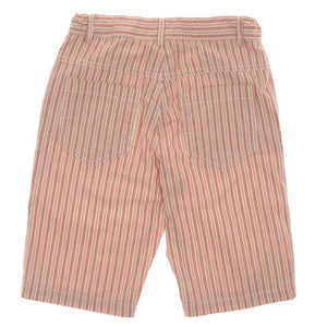 BOYS CORAL STRIPED BERMUDA SHORTS