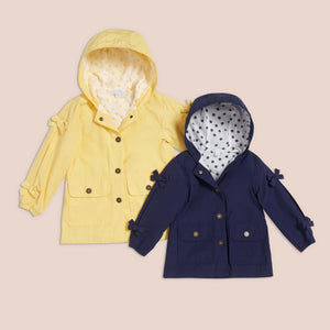 Polka dot yellow raincoat