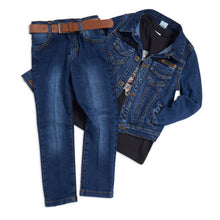 Load image into Gallery viewer, Blue denim 4 piece outfit