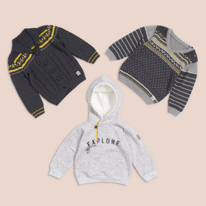 Elegant boys knitted cardigan