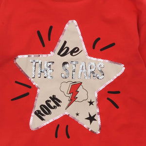 GIRLS ROCK STAR LONG SLEEVE TOP