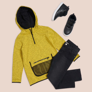 Mustard baller hooded sweat shirt