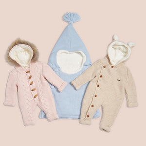 Baby mio pink jumpsuit removable fur