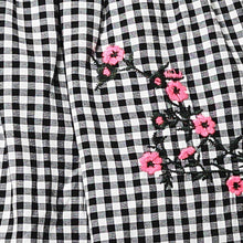 Load image into Gallery viewer, GIRLS FLORAL CHECKERED DRESS