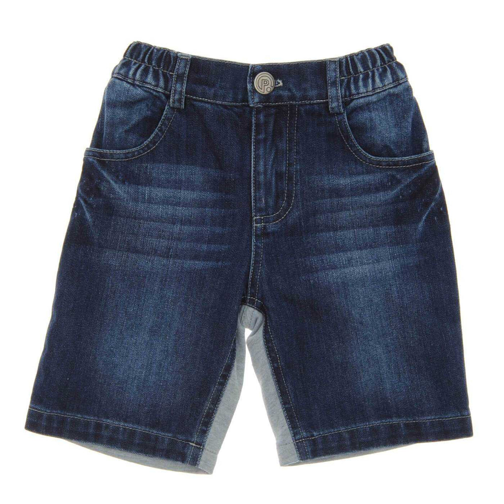 HALF DENIM BLUE SHORTS