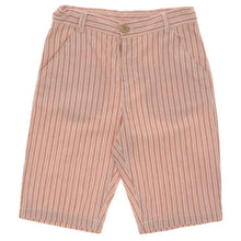 Load image into Gallery viewer, BOYS CORAL STRIPED BERMUDA SHORTS