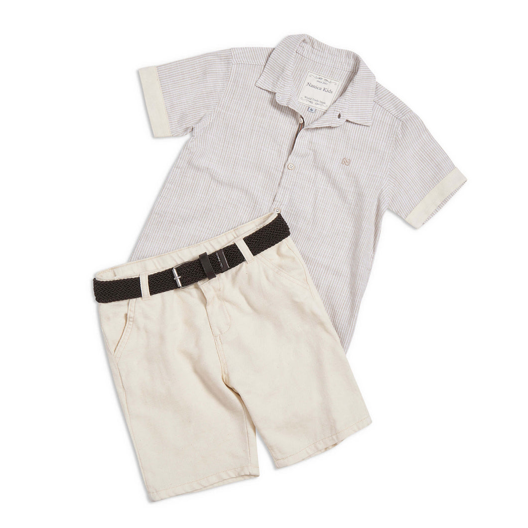Tony bahama 3 piece beige outfit