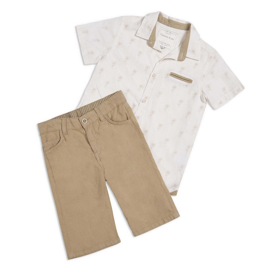 Patrick 2 piece outfit beige