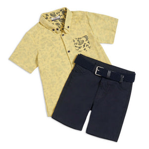 George 3 piece yellow shirt outfit