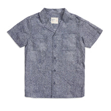 Load image into Gallery viewer, Boys button-up blue shirt