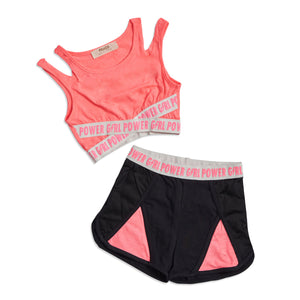 Girl power 2 piece workout set