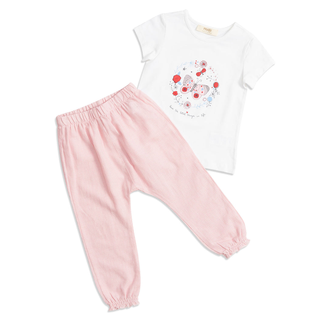 Girls 2 piece butterfly set