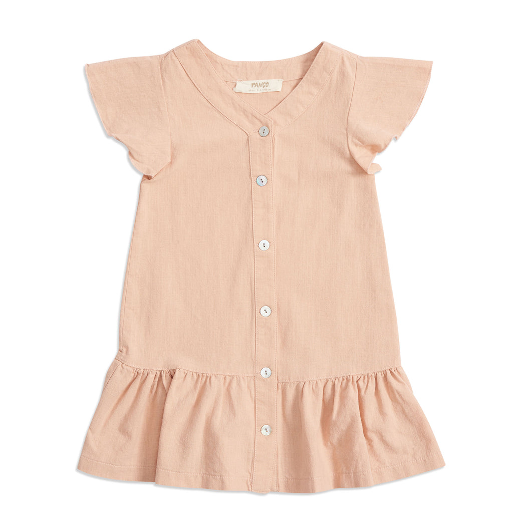 Girls powder pink casual dress