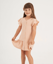 Load image into Gallery viewer, Girls powder pink casual dress