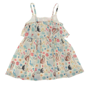 GIRLS GREEN JUNGLE DRESS
