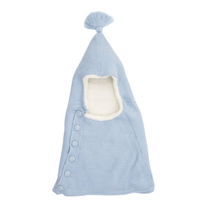 BABY MIO HOODED SLEEPING BAG BABY BLUE