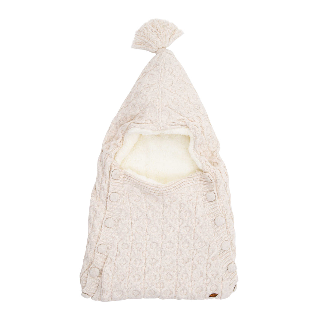 BABY MIO BEIGE HOODED SLEEPING SACK