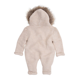 BABY MIO JUMP SUIT BEIGE REMOVABLE FUR