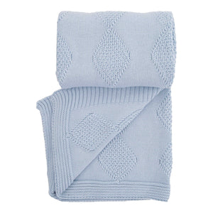 BABY MIO BLUE KNITTED BLANKET