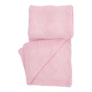 BABY MIO PINK THROW BLANKET