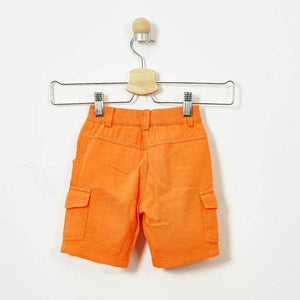 BOYS ORANGE CARGO SHORTS