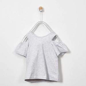 GIRLS GREY FLUFFY TAIL TOUCAN BLOUSE