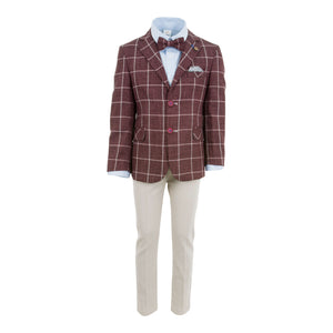5 PIECE SUIT BURGUNDY
