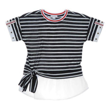 Load image into Gallery viewer, GIRLS NAVY STRIPED TUNIC