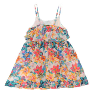 GIRLS PINK FLORAL DRESS