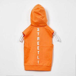 BOYS ORANGE HOODED VEST