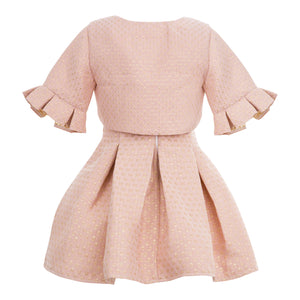 JOLANDA GIRLS 3 PIECE SALMON DRESS