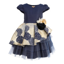 Load image into Gallery viewer, JOLANDA GIRLS NAVY BLUE DRESS