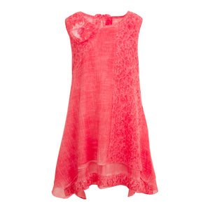 GIRLS CORAL SUMMER DRESS