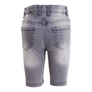 BOYS GREY DENIM SHORTS