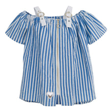 Load image into Gallery viewer, GIRLS BLUE STRIPPED BLOUSE