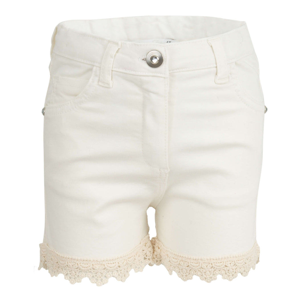 GIRLS LACE TRIM SHORTS