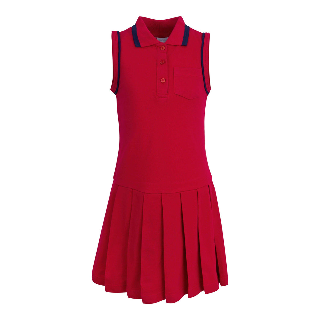 GIRLS RED TENNIS DRESS