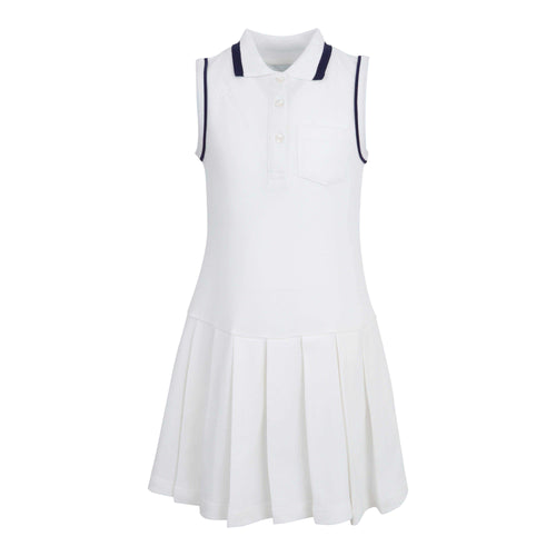 GIRLS WHITE TENNIS DRESS