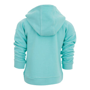 GIRLS BLUE HOODED SWEATER