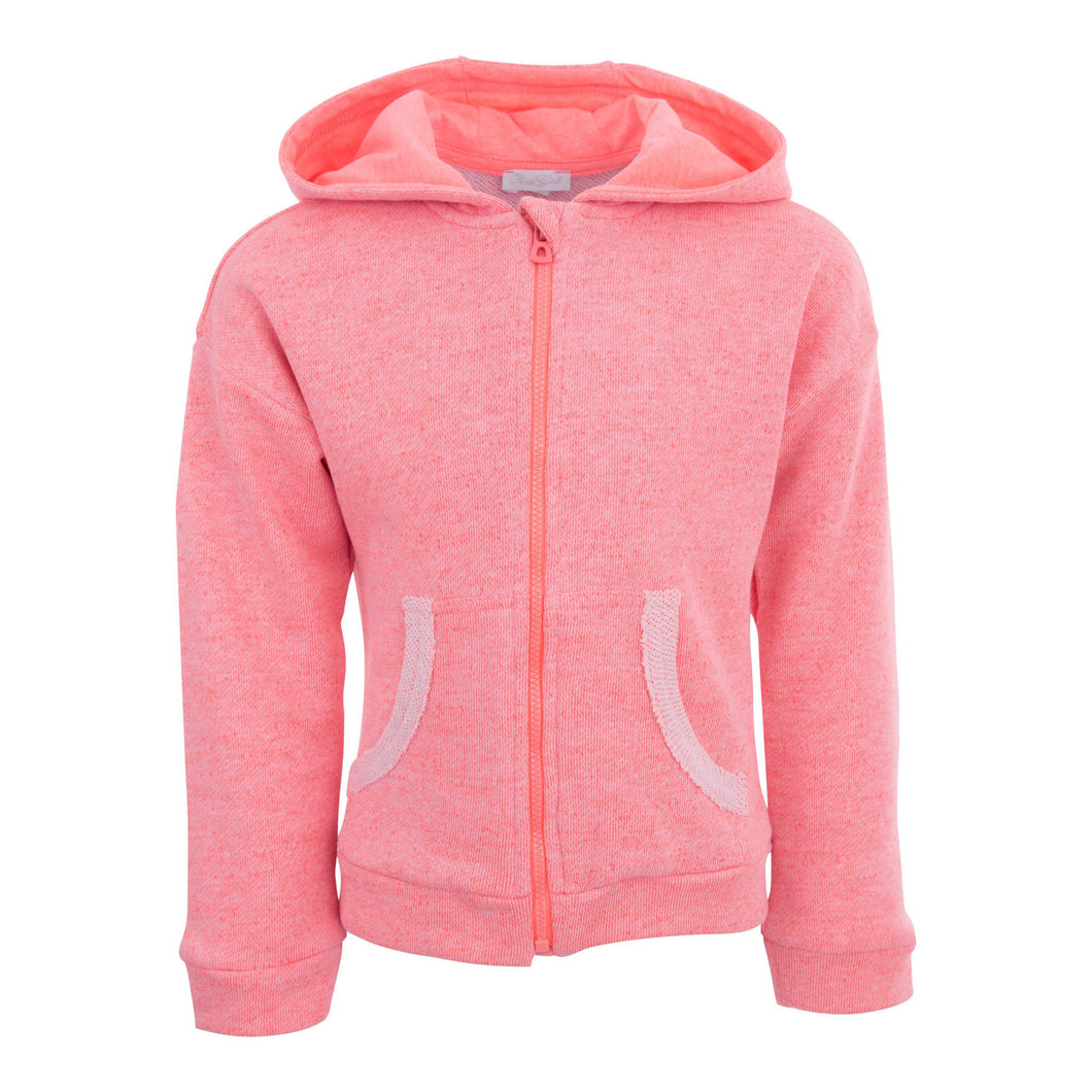 GIRLS PINK HOODED SWEATER