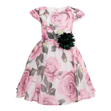 Load image into Gallery viewer, POLIN GIRLS ROSE DRESS