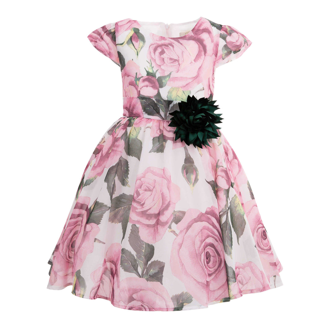 POLIN GIRLS ROSE DRESS