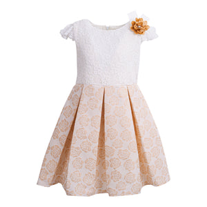 POLIN GIRLS BEIGE DRESS