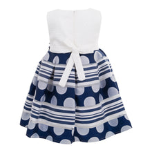 Load image into Gallery viewer, POLIN BABY GIRLS DARK BLUE DRESS