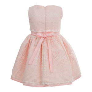 GIRLS LACE PINK POWDER DRESS