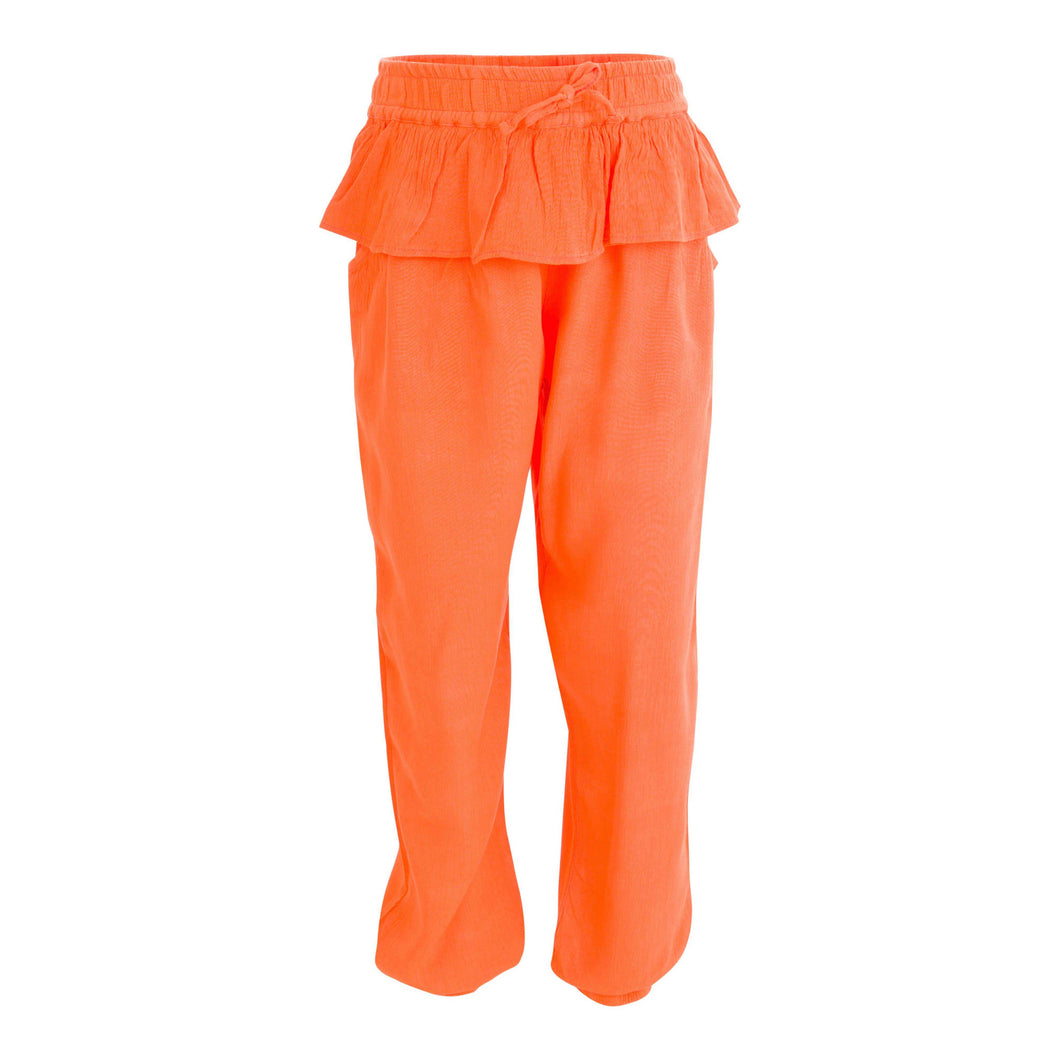 GIRLS ORANGE LOOSE FIT PANTS