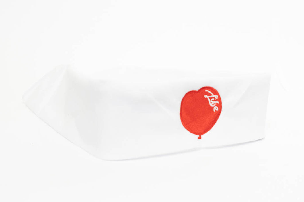 White Bandana with Red