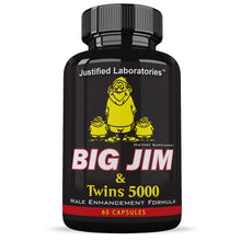 Load image into Gallery viewer, Big Jim & The Twins 5000 Penis Enlargement All Natural Male Enhancement Formula