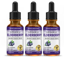 Load image into Gallery viewer, Organic Elderberry Drops Liquid Extract Daily Immune System Support 250MG Sambucus Nigra for Kids & Adults