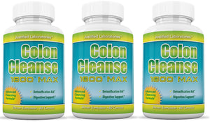 Colon Cleanse 1800 Max Detox Cleanse All Natural with Acai Fruit and Fennel Seeds 60 Capsules